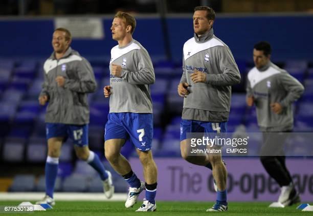 Birmingham City's Adam Rooney Chris Burke Steven Caldwell and Liam Ridgewell