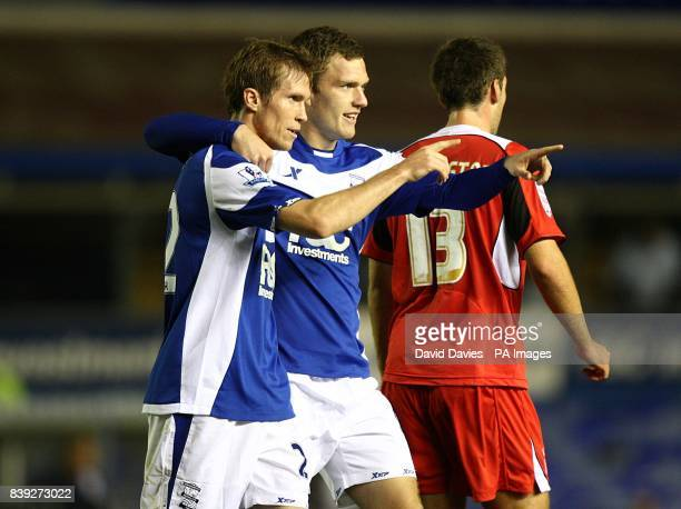 Birmingham City's Alexander Hleb celebrates scoring his sides first goal of the game with teammate Craig Gardner