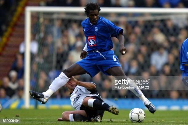 Birmingham City's Aliou Cisse and Fulham's Lee Clark battle for the ball