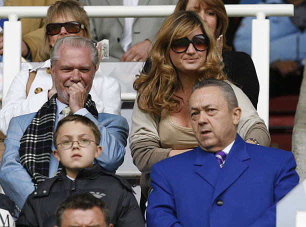 Birmingham City's Chairman David Gold (L