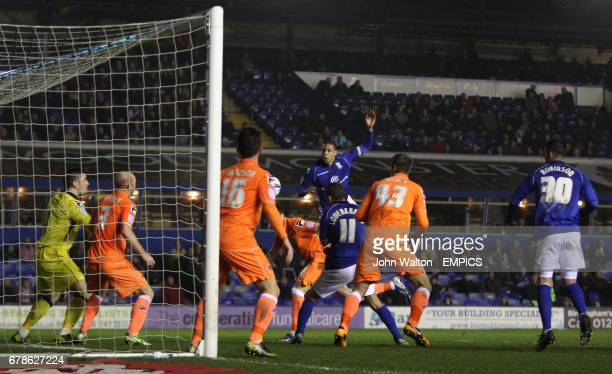 Birmingham City's Curtis Davies scores the opening goal of the game