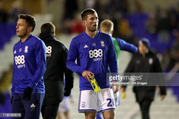 Birmingham City's Gary Gardner warms up ahead of the match during the Sky Bet Championship match at St Andrew's Trillion Trophy Stadium Birmingham