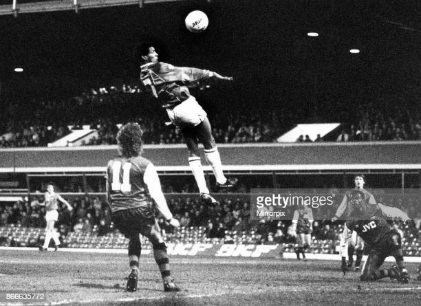 Birmingham City's Howard Gayle heads the ball powerfully Birmingham City v Arsenal Final score 21 to Birmingham City League Division One 15th March...