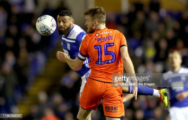 Birmingham City's Isaac Vassell and Millwall's Alex Pearce battle for the ball during the Sky Bet Championship match at St Andrew's Trillion Trophy...
