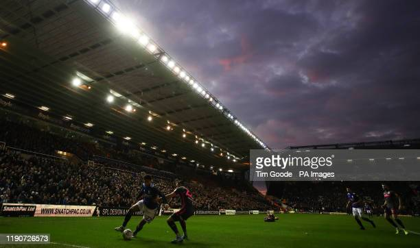 Birmingham City's Jude Bellingham and Leeds United's Jack Harrison battle for the ball during the Sky Bet Championship match at St Andrew's Trillion...