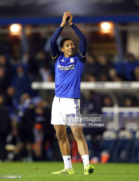 Birmingham City's Jude Bellingham applauds the fans after the Sky Bet Championship match at St Andrew's Trillion Trophy Stadium Birmingham