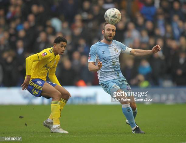Birmingham City's Jude Bellingham battles with Coventry City's Liam Kelly during the FA Cup Fourth Round match between Coventry City and Birmingham...