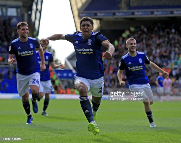 Birmingham City's Jude Bellingham celebrates after he scores his sides second goal Birmingham City v Stoke City Sky Bet Championship St Andrew's...