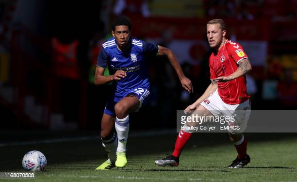 Birmingham City's Jude Bellingham in action with Charlton Athletic's Chris Solly Charlton Athletic v Birmingham City Sky Bet Championship The Valley