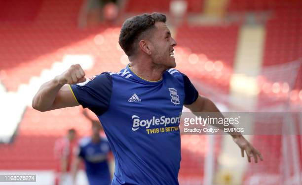 Birmingham City's Kerim Mrabti celebrates after team mate Jude Bellingham scores his sides first goal of the game Charlton Athletic v Birmingham City...