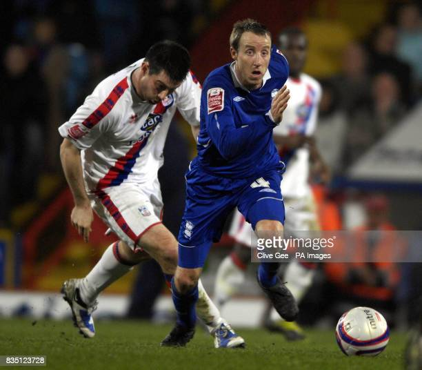 Birmingham City's Lee Bowyer dribbles past Crystal Palace's Alan Lee during the CocaCola Championship match at Selhurst Park London