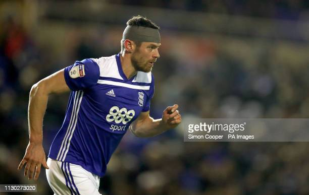 Birmingham City's Lukas Jutkiewicz during the Sky Bet Championship match at St Andrew's Trillion Trophy Stadium Birmingham