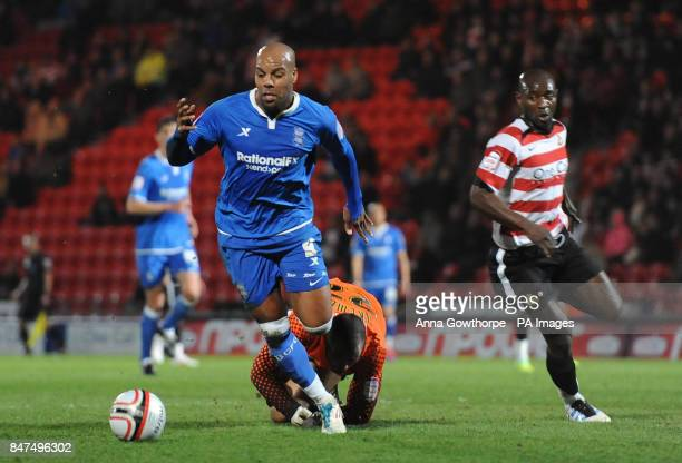 Birmingham City's Marlon King goes past Doncaster Rovers' goalkeeper Carl Ikeme before going down in the box and not being awarded a penalty during...