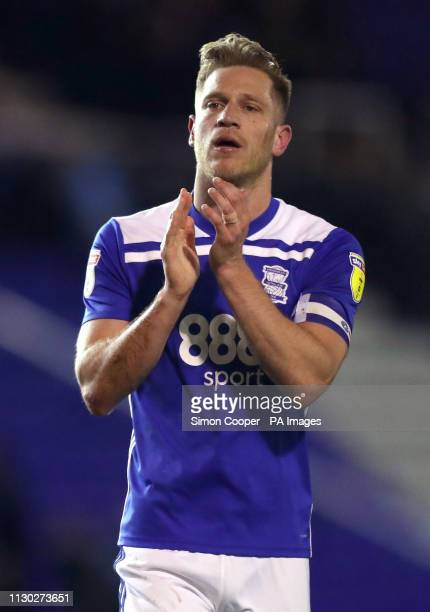 Birmingham City's Michael Morrison after the final whistle during the Sky Bet Championship match at St Andrew's Trillion Trophy Stadium Birmingham