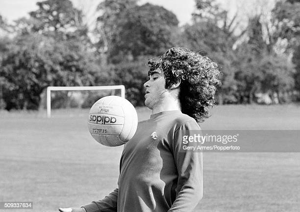 Birmingham City's new signing from Argentina Alberto Tarantini training at Elmdon Heath near Birmingham 11th October 1978