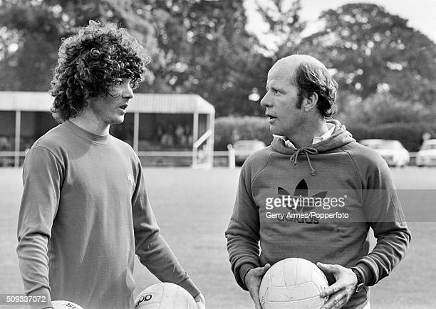 Birmingham City's new signing from Argentina Alberto Tarantini with the Birmingham City manager Jim Smith at Elmdon Heath near Birmingham 11th...