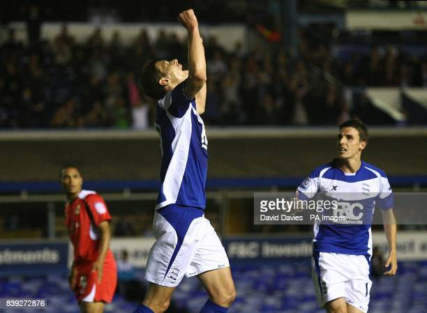Birmingham City's Nikola Zigic celebrates scoring his sides second goal of the game