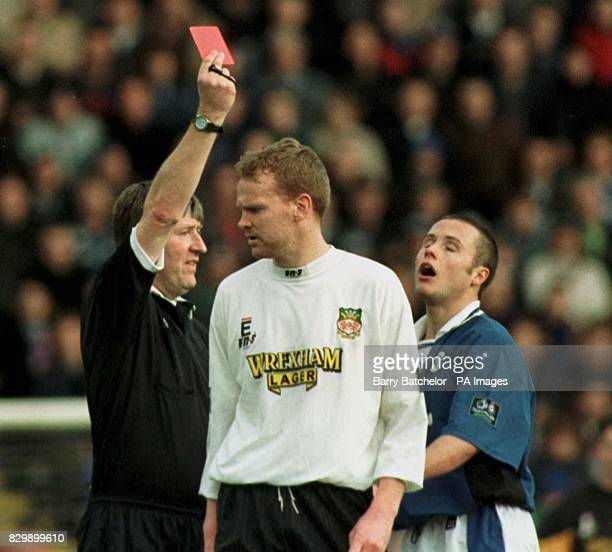 Birmingham City's Paul Devlin is shown the red card during Birminghams 5 round FA Cup clash with Wrexham today Wrexham won the match 31 Photo by...