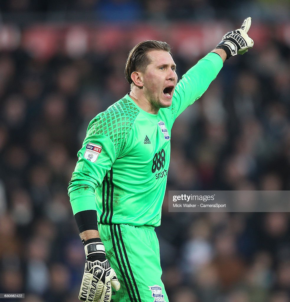 Birmingham City's Tomasz Kuszczak during the Sky Bet Championship match between Derby County and Birmingham City at iPro Stadium on December 27, 2016 in Derby, England.