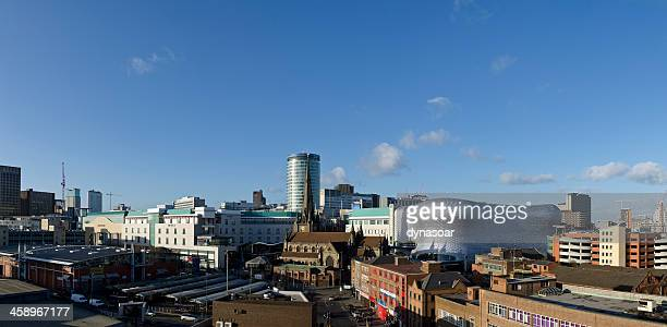 birmingham cityscape panorama - birmingham england stock photos and pictures