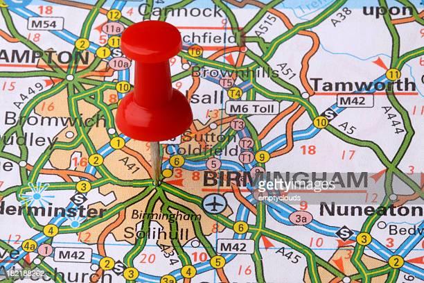 Birmingham on a map.