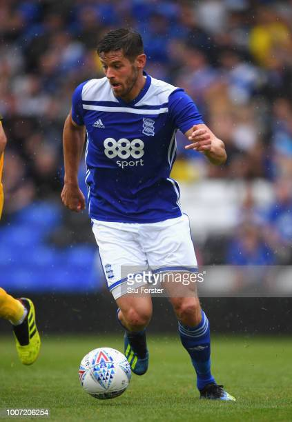 Birmingham player Lukas Jutkiewicz in action during the friendly match between Birmingham City and Brighton and Hove Albion at St Andrew's Trillion...
