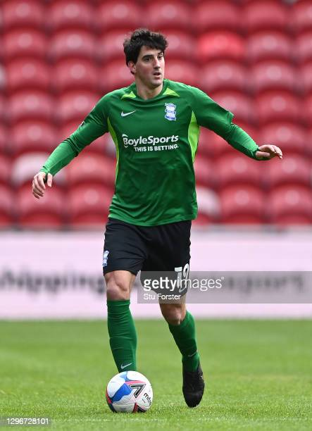 Birmingham player Mikel San Jose in action during the Sky Bet Championship match between Middlesbrough and Birmingham City at Riverside Stadium on...
