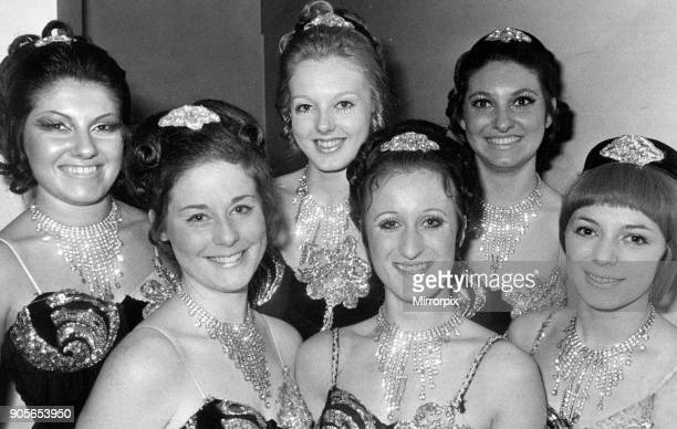 Birmingham Press Club Ball 26th November 1971 The Viva dancers who entertained guests at the Press Ball line up before their act They are from left...