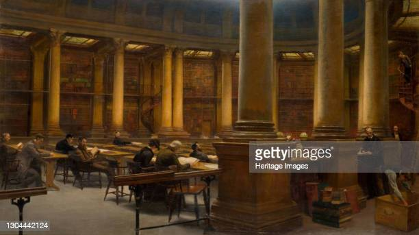 Birmingham Reference Library - The Reading Room, 1881. Artist Edward R Taylor.