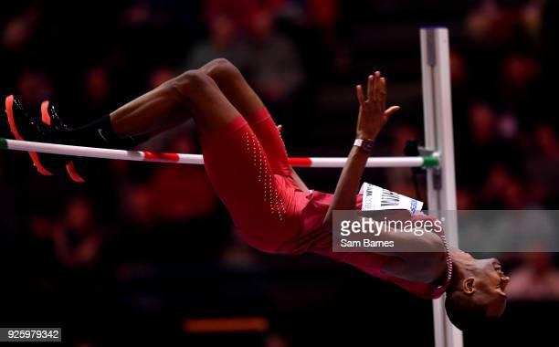 Birmingham United Kingdom 1 March 2018 Mutaz Essa Barshim of Qatar in action during the Men's High Jump on Day One of the IAAF World Indoor...