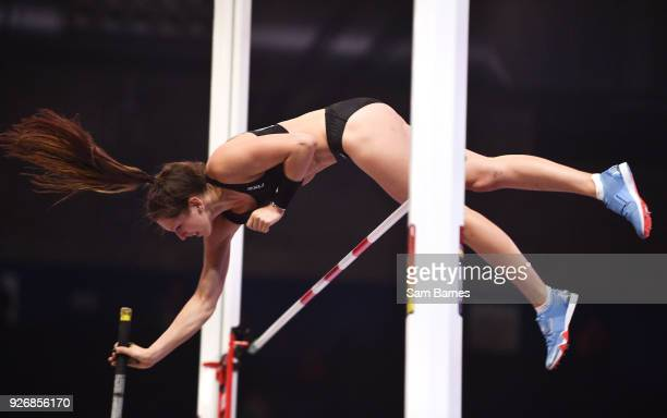 Birmingham United Kingdom 3 March 2018 Eliza Mccartney of New Zealand in action during the Women's Pole Vault on Day Three of the IAAF World Indoor...