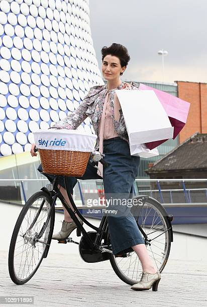 Birminghamborn supermodel Erin O'Connor poses in St Martin's Square ahead of Sky Ride Birmingham a free fun familyoriented mass participation cycling...