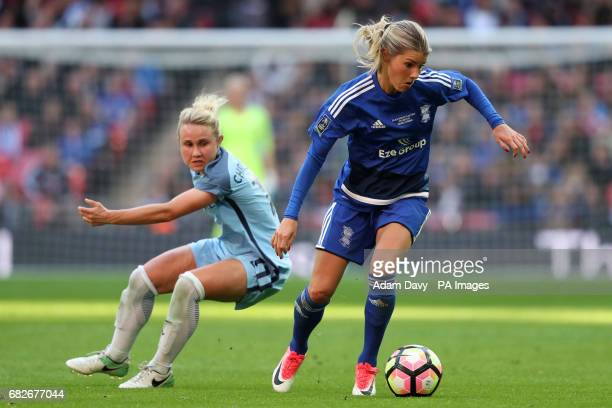 BirminghamCity's Andrine Hegerberg and Manchester City's Izzy Christiansen battle for the ball during the SSE Women's FA Cup Final at Wembley Stadium...