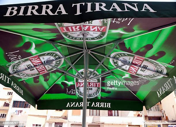 birra tirana in albania - pavliha stock photos and pictures