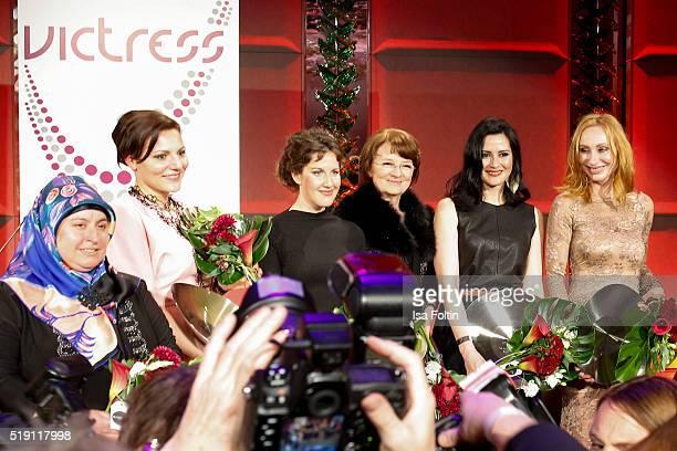 Birsen Kilic AnnKathrin Carstensen Maxie Matthiessen Dagmar Reim AnneChristin Bansleben and Andrea Sawatzki attend the Victress Awards Gala on April...