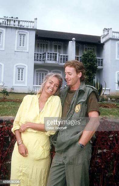 Birte Berg Albert Fortell Kinofilm Der Stein des Todes am im St Andrews Hotel in Nuwara Eliya Sri Lanka