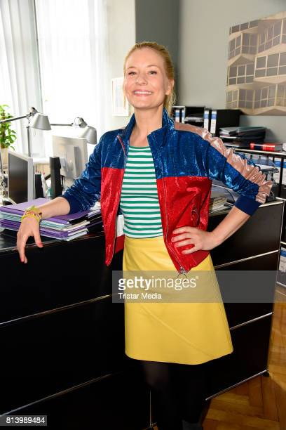 Birte Hanusrichter during 'Jenny Echt gerecht' RTL TV series Set Visit In Berlin on July 13 2017 in Berlin Germany