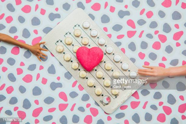 birth control pills - blister package stock pictures, royalty-free photos & images