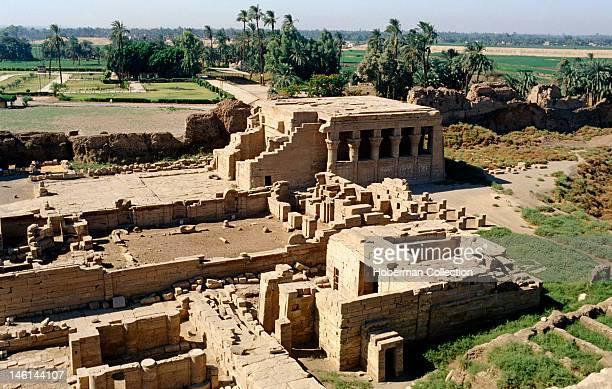 Birth house forecourt Temple of Dendera, Egypt