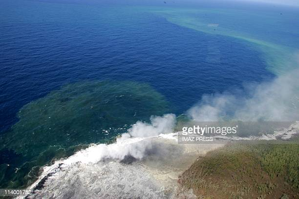 Birth of a 'new' volcano on the east coast of the Reunion Island Indian Ocean In France On August 31 2004