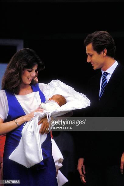 Birth of Andrea Casiraghi In Monaco city, Monaco On June 10, 1984-Caroline, Andrea and Stefano.