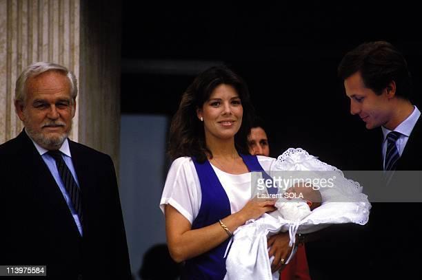 Birth of Andrea Casiraghi In Monaco city Monaco On June 10 1984Rainier Caroline Andrea and Stefano