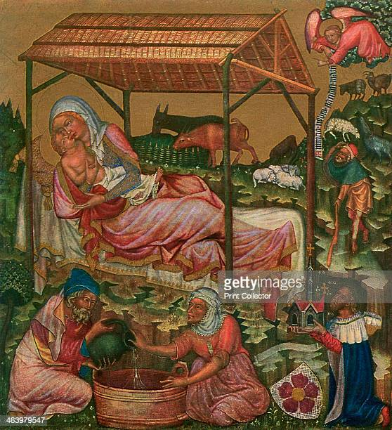 'Birth of Christ' c1350 Tempera on wood Found in the collection of the National Gallery Prague A print from Gothic Painting in Bohemia 13501450 by...