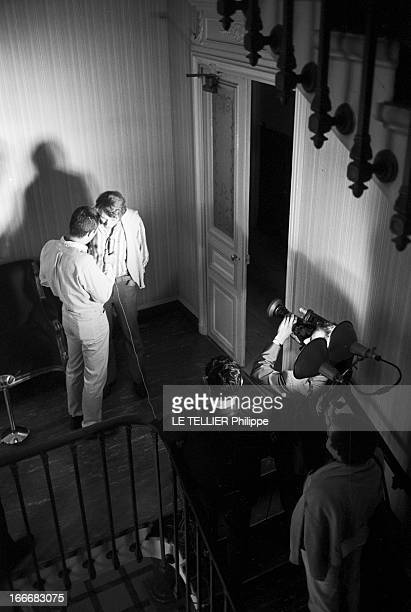 Birth Of David Son Of Johnny Hallyday And Sylvie Vartan France BoulogneBillancourt 15 août 1966 à la clinique du Belvédère le chanteur Johnny...