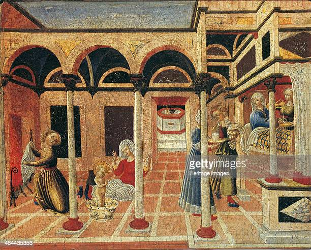 Birth of Saint Nicolas of Bari 1430s Found in the collection of the Art Museum Basel