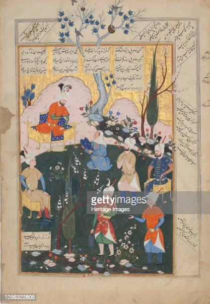 Birth of Zal, Folio from a Shahnama , 1576-77. Artist Siyavush.