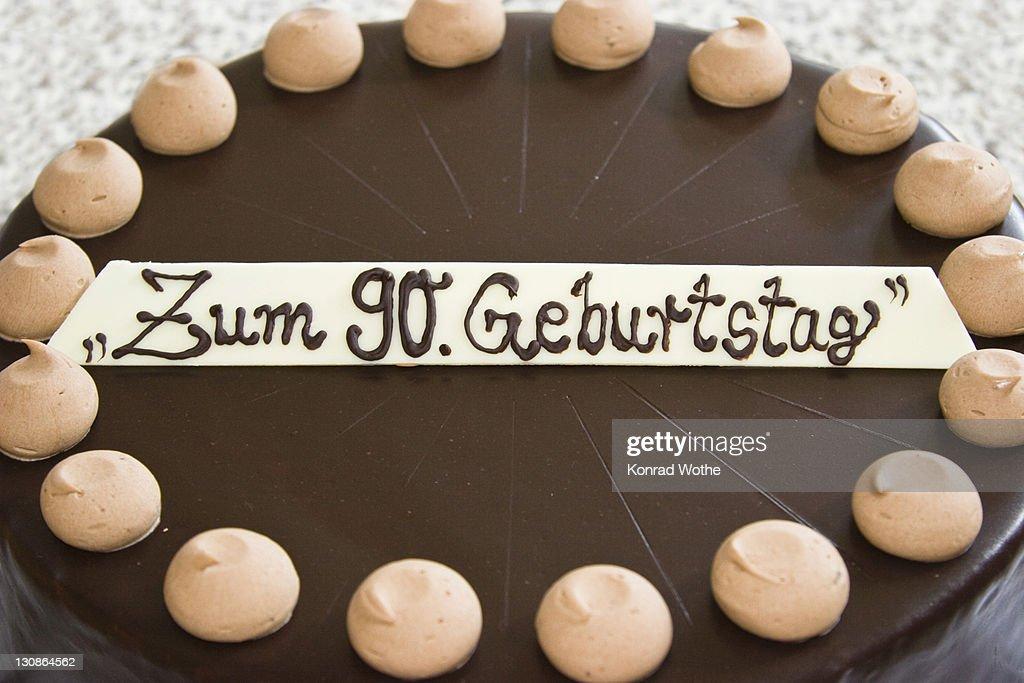 Magnificent Birthday Cake 90Th Birthday Germany High Res Stock Photo Getty Funny Birthday Cards Online Elaedamsfinfo