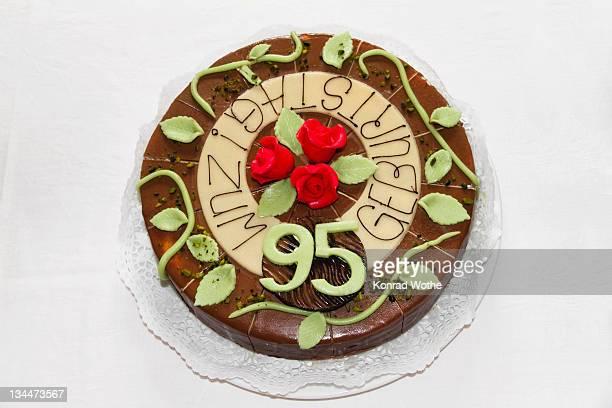 Birthday cake, 95th birthday, Germany, Europe