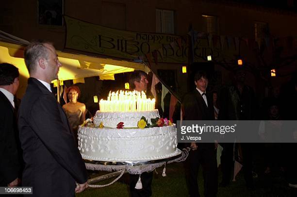 Birthday Cake for Bilbo Baggins during Cannes 2001 The Lord of the Rings Party in Cannes France