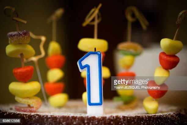 Birthday cake for one year anniversary